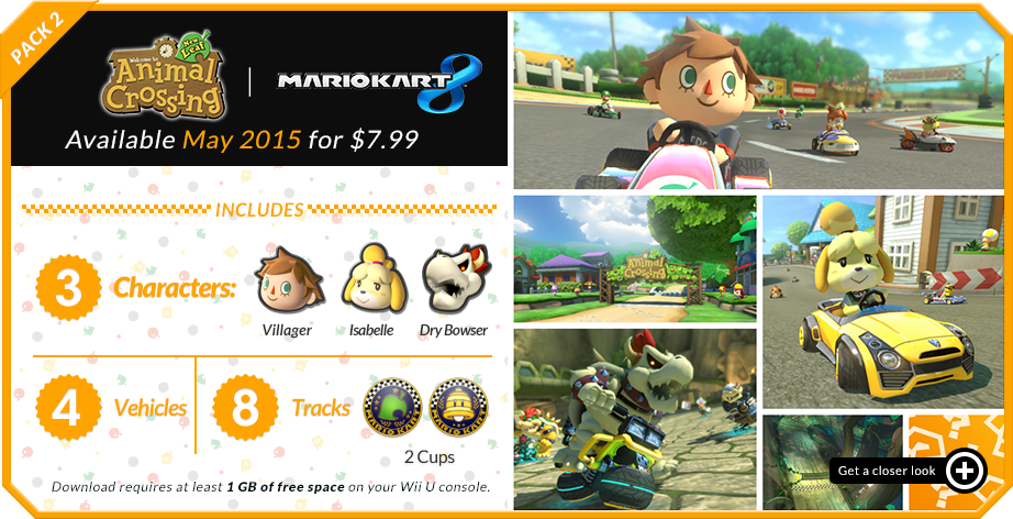Mario Kart 8 Dlc Animal Crossing And Dry Bowser