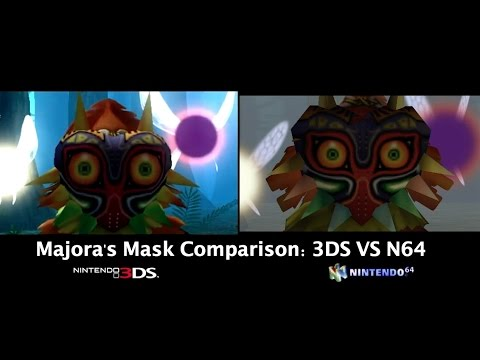 Majora's Mask for 3DS compared to the original on the N64