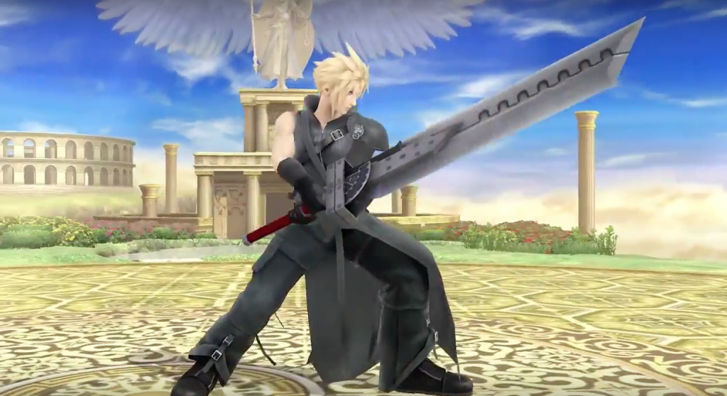 Cloud in his Advent Children outfit