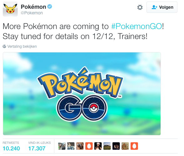 Upcoming Pokémon GO update