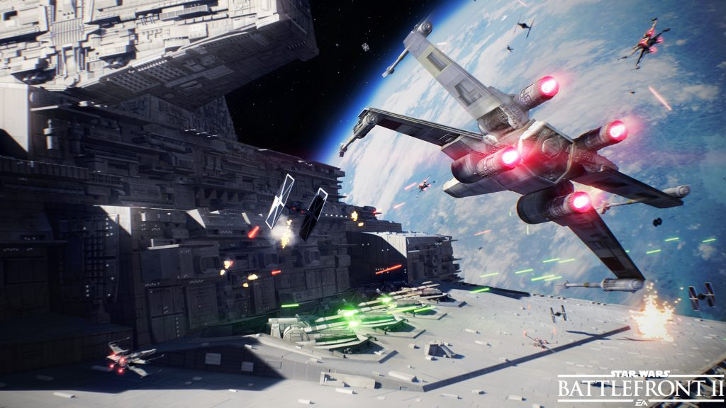 New Star Wars Battlefront II screens showcase an intens multiplayer and single payer experience; even in space!