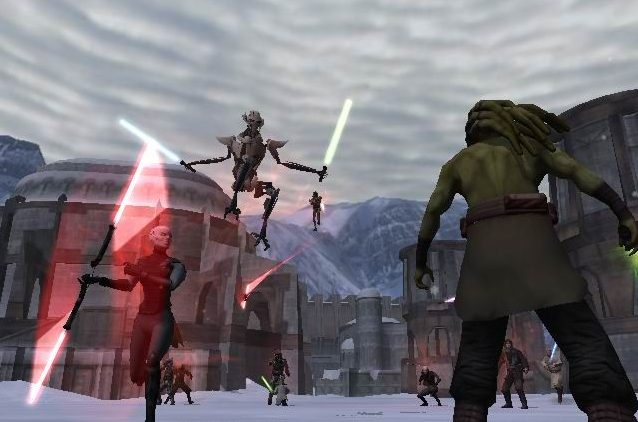 The old heroes in the original Star Wars Battlefront II