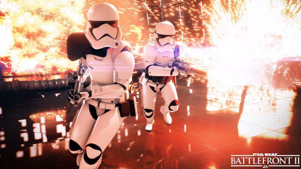 Cool Stormtroopers don't look at explosions